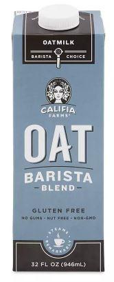 califa oat milk carton